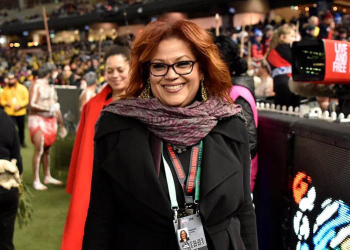Image of Ms Tania Hosch at an AFL match